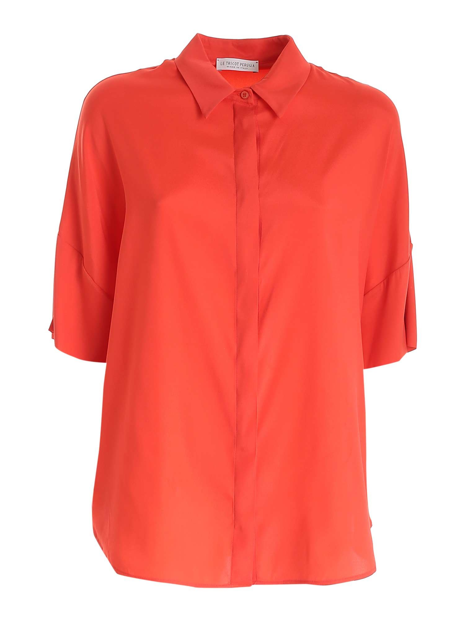 Le Tricot Perugia CORAL RED SHIRT