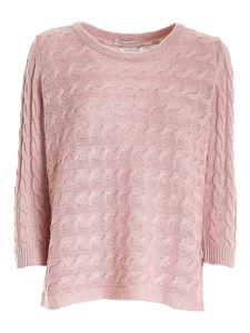 Le Tricot Perugia - Micro sequins sweater in pink
