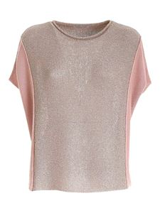 Le Tricot Perugia - Lamé detail sweater in pink