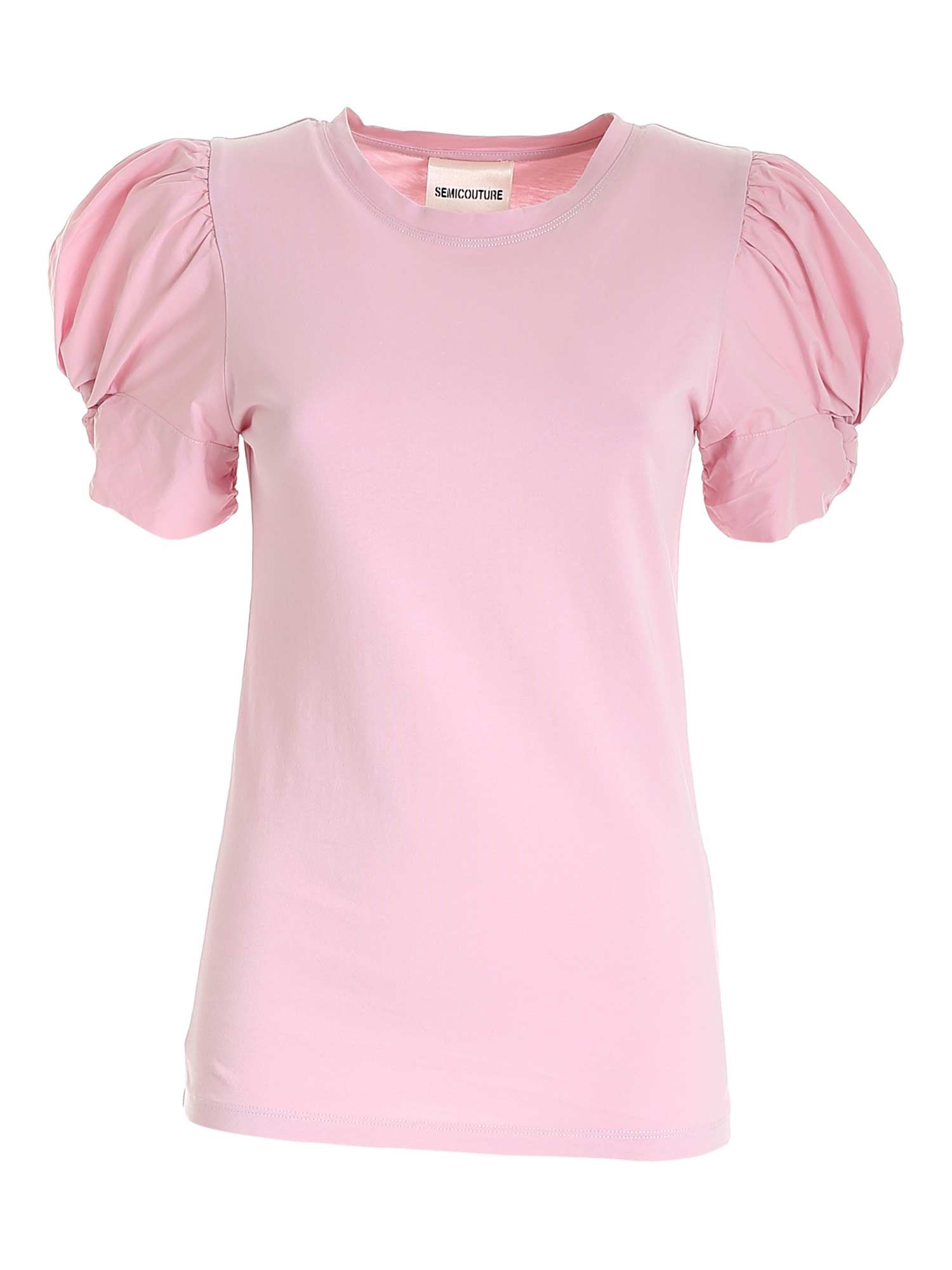 Semicouture Cottons ADELE T-SHIRT IN PINK
