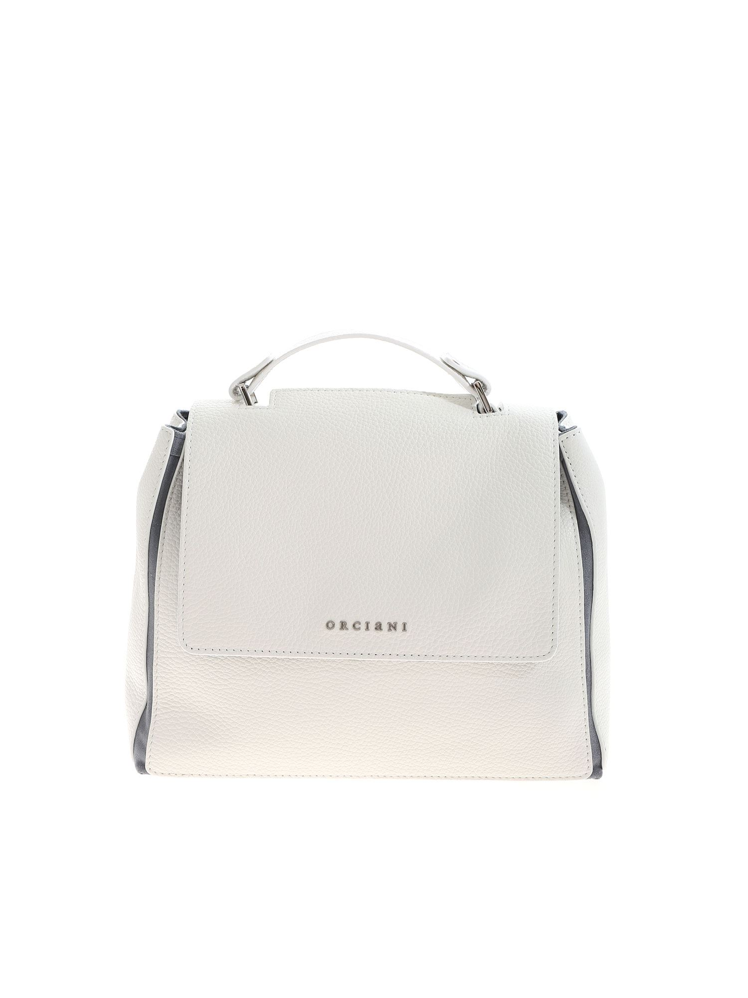 Orciani Leathers SVEVA SMALL BAG IN WHITE