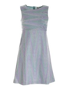 M Missoni - Lamé knitted dress in grey