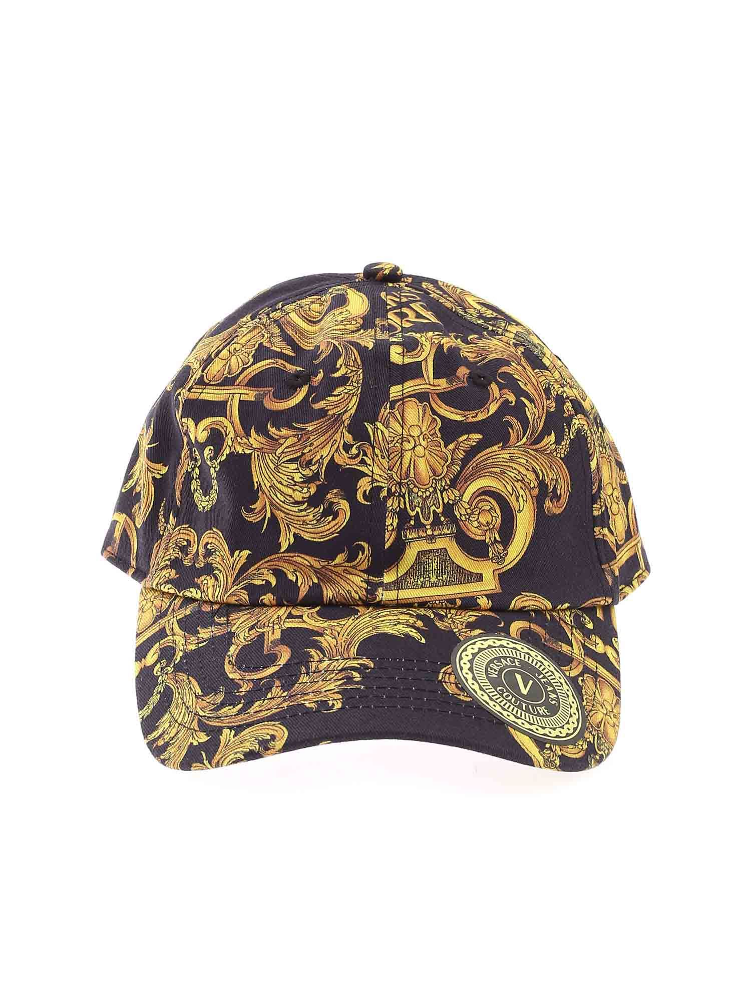 Versace Jeans Couture BAROQUE PRINT CAP IN BLACK
