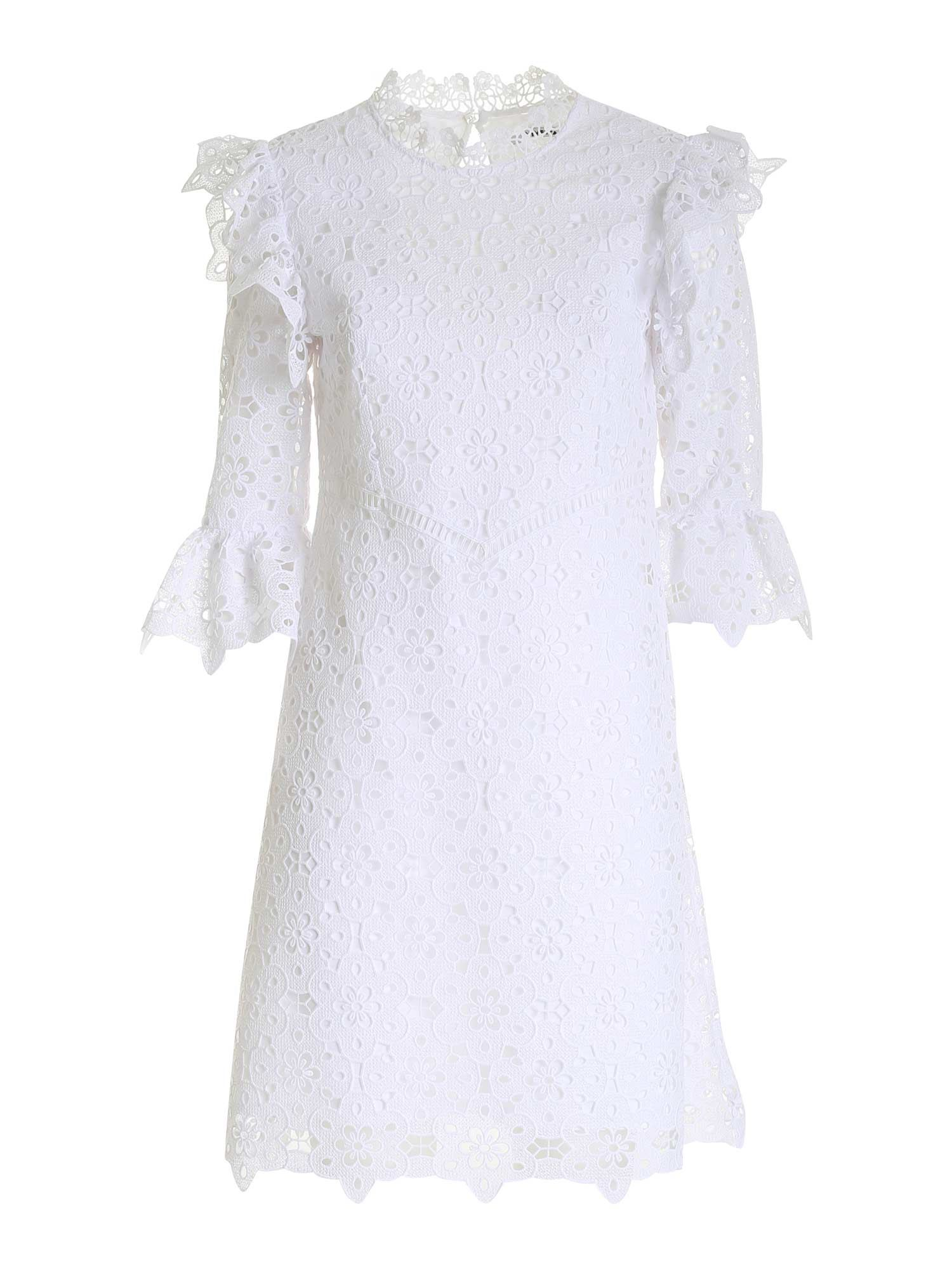 Vivetta LACE DETAIL DRESS IN WHITE