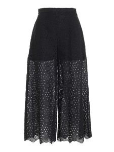 Vivetta - Lace drilled pants in black