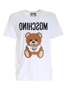 Moschino - Embroidery T-shirt in white
