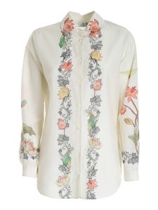 Etro - Floral print shirt in ivory color