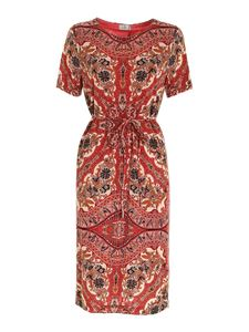 Etro - Printed dress in shades of red