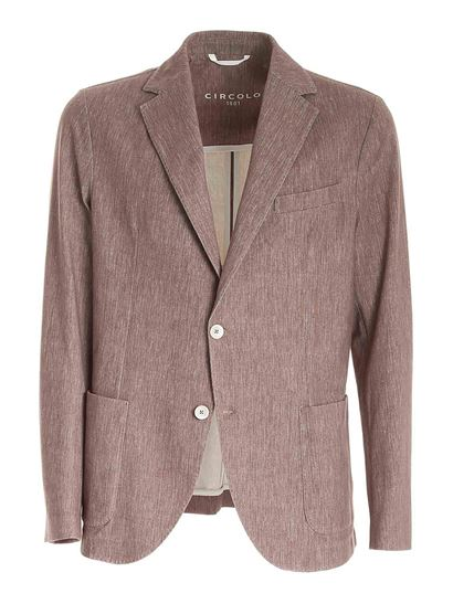 Circolo 1901 - Single-breasted jacket in brown