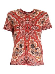 Etro - Printed t-shirt in shades of red