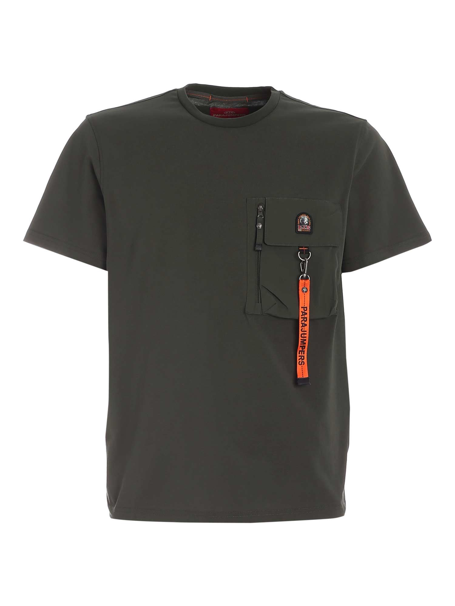 Parajumpers Cottons MOJAVE T-SHIRT IN GREEN