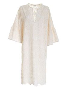 Ottod'Ame - Long broderie anglaise dress in cream color