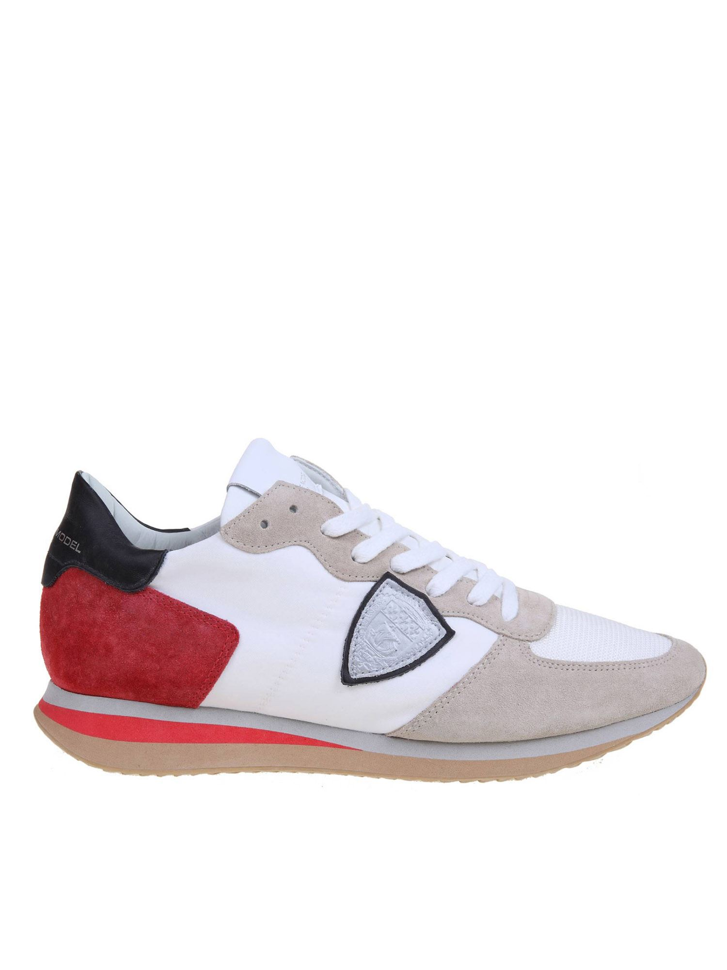 Philippe Model Sneakers TRPX SNEAKERS IN WHITE AND RED