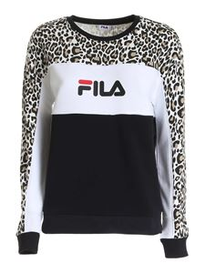 Fila - Amina Aop sweatshirt in black and white