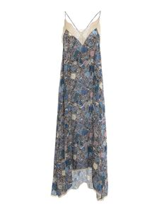 Zadig & Voltaire - Floral viscose dress in blue