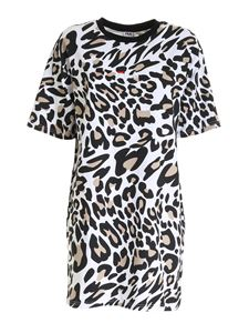 Fila - Elle Aop dress in white animalier print