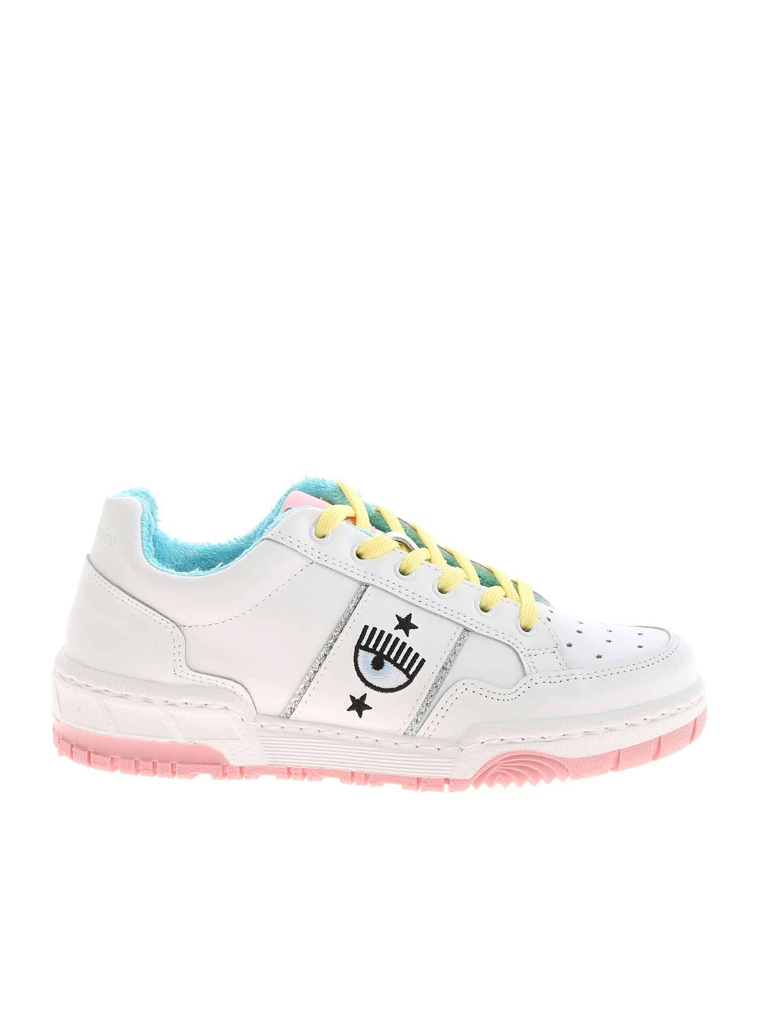 Chiara Ferragni Sneakers WHITE SNEAKERS WITH TERRY LINING