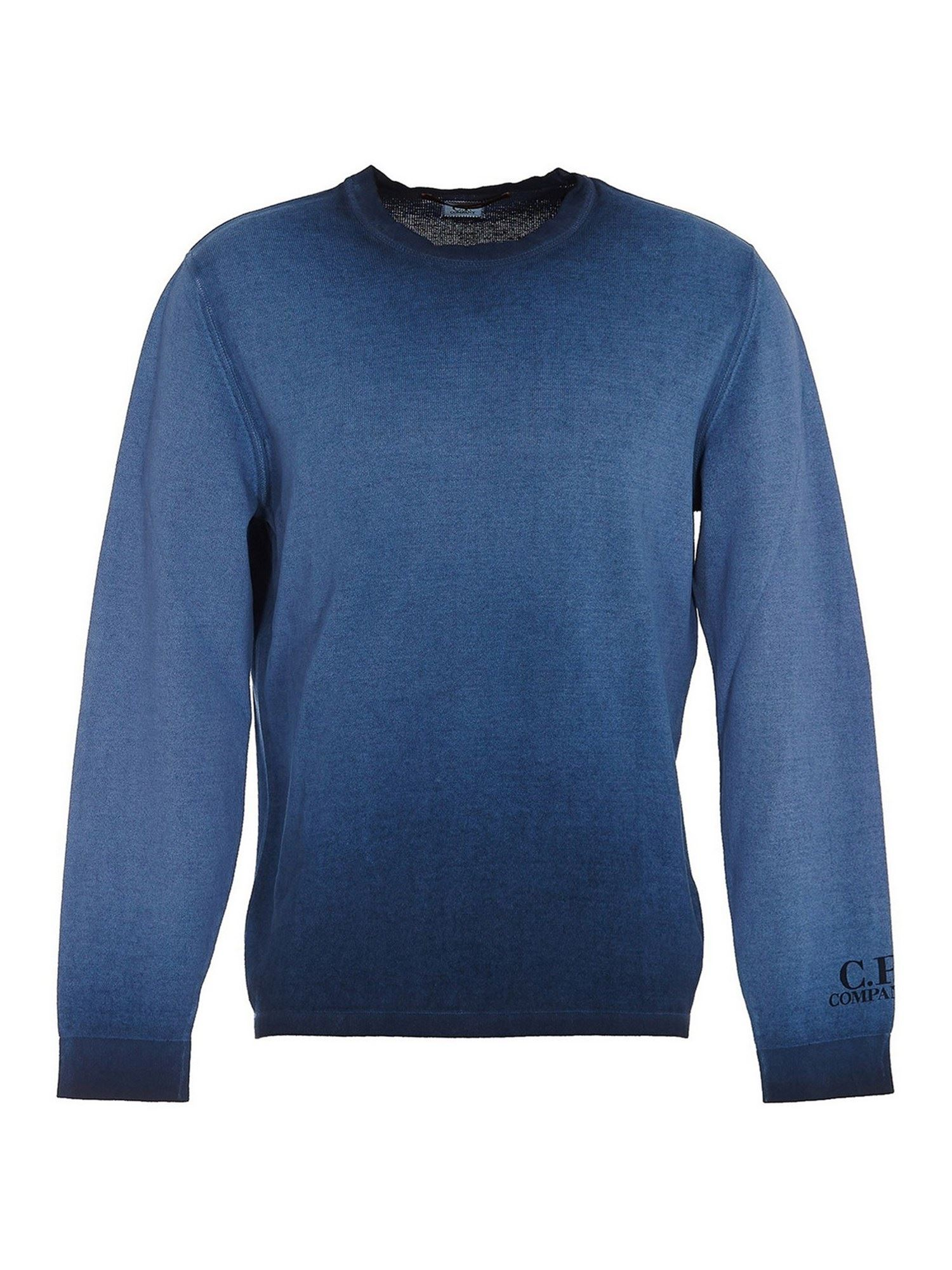C.p. Company Cottons ROUNDNECK SWEATER IN BLUE