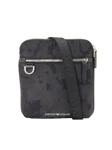 Emporio Armani - Camouflage shoulder bag in black