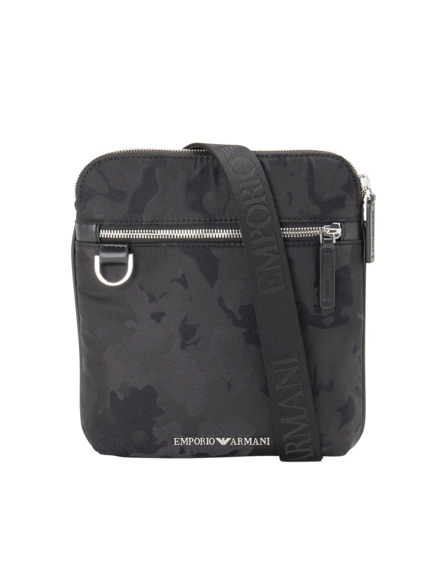 Emporio Armani CAMOUFLAGE SHOULDER BAG IN BLACK