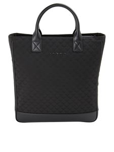 Emporio Armani - Monogram print tote bag in black