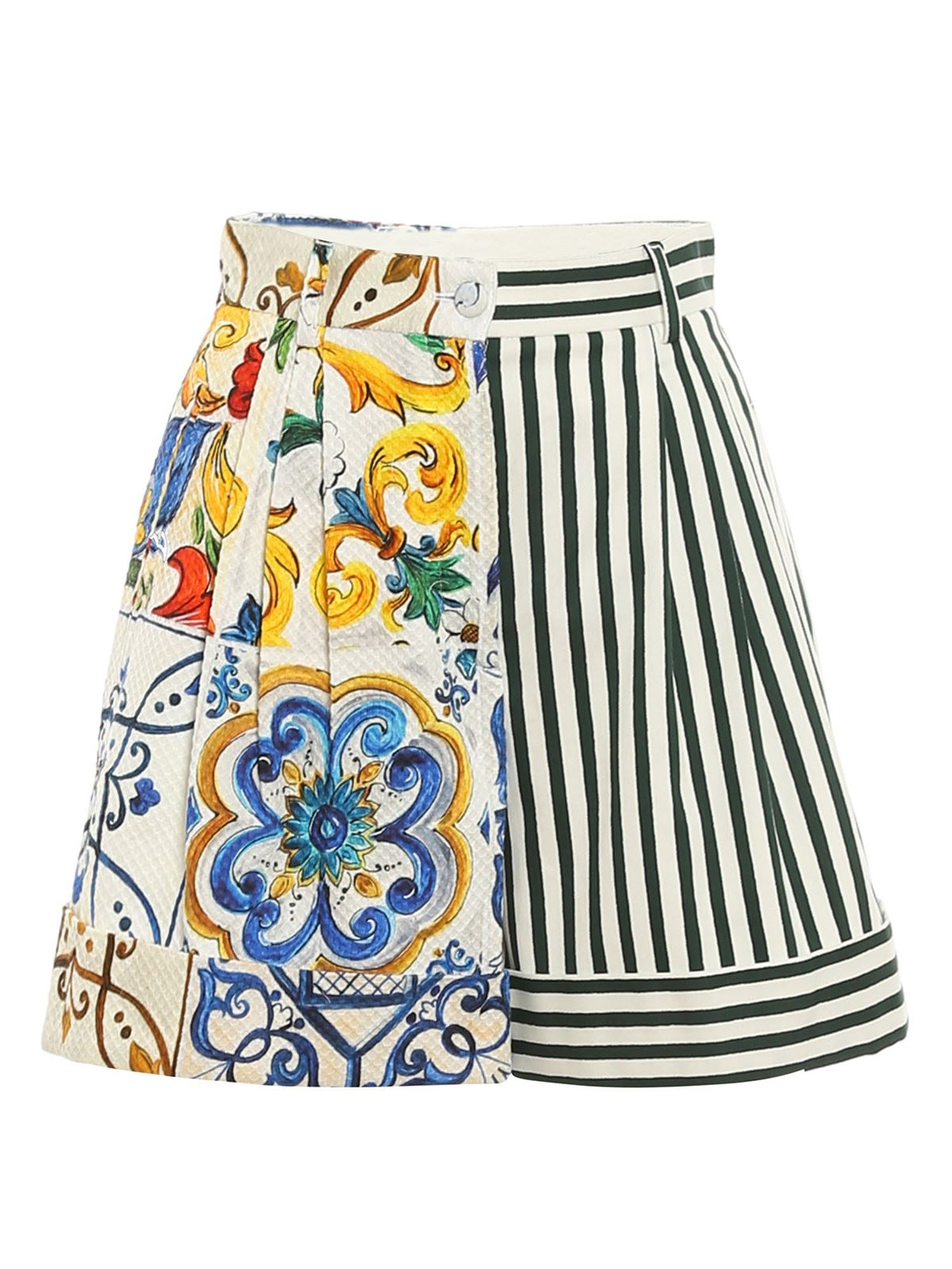 Dolce & Gabbana Shorts PATCHWORK PATTERNED SHORTS IN MULTICOLOR
