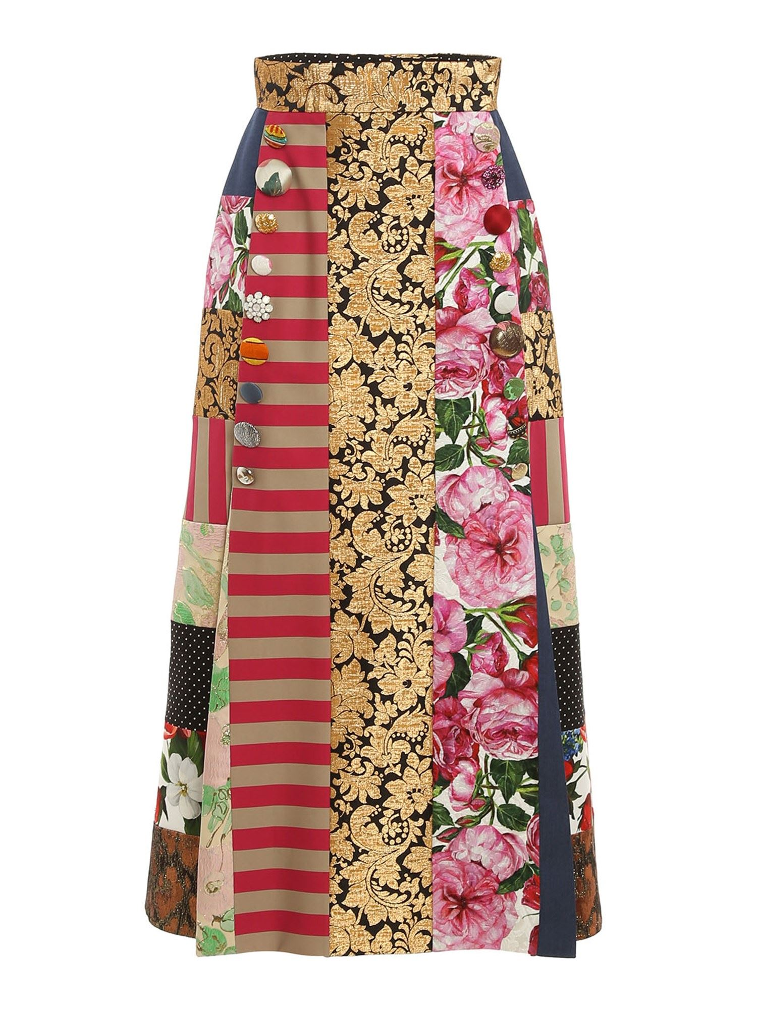 Dolce & Gabbana PATCHWORK PATTERNED SKIRT IN MULTICOLOR