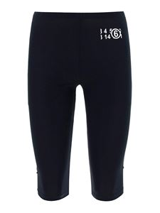 MM6 Maison Margiela - Stretch cycling pants in black