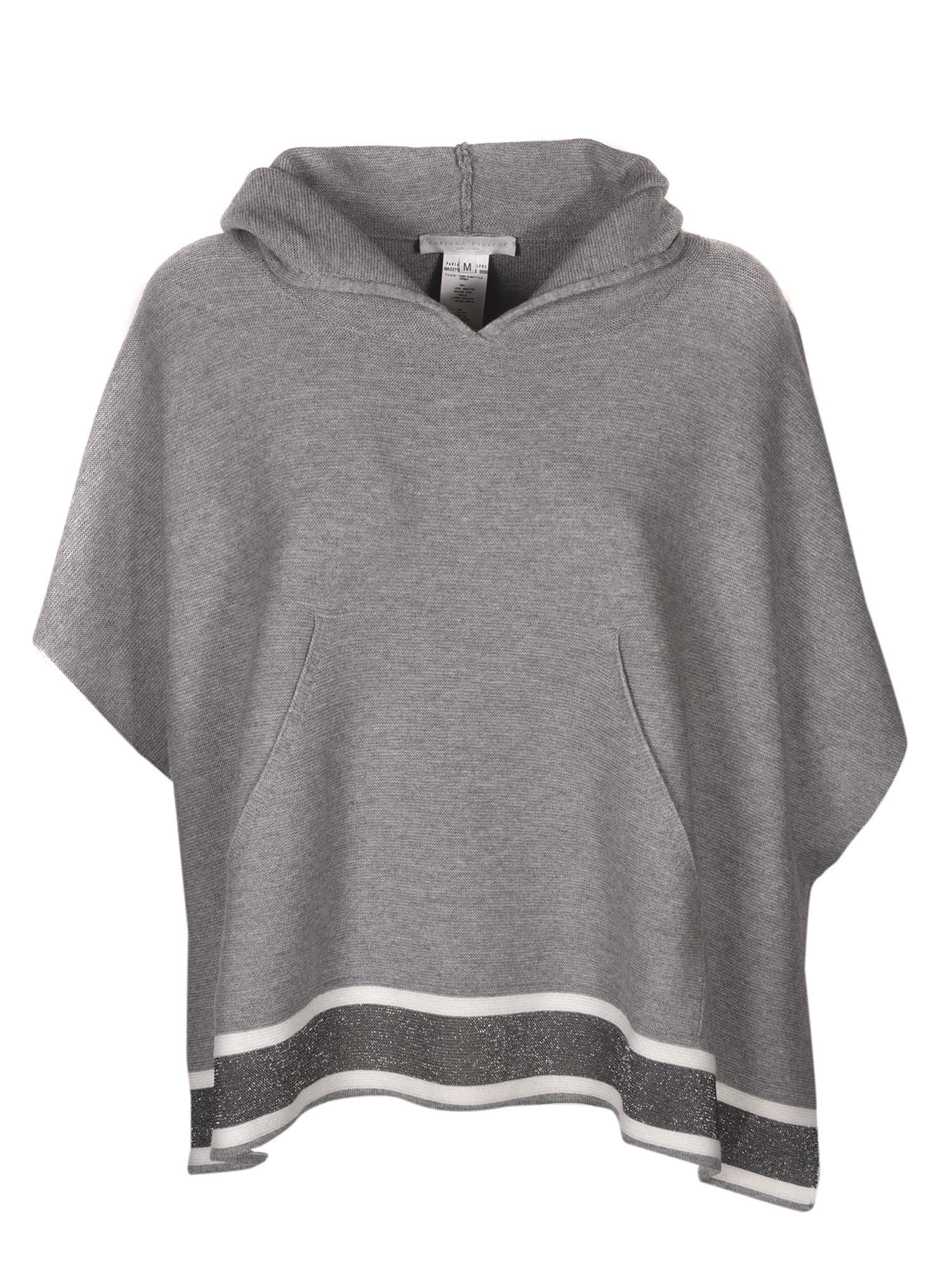 Fabiana Filippi WOOL SWEATER IN GREY