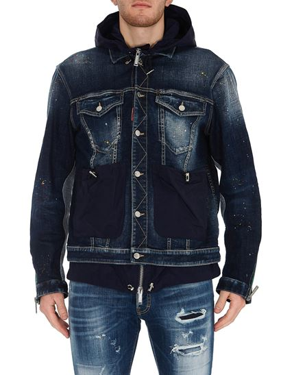 Dsquared2 - Layered denim jacket in blue