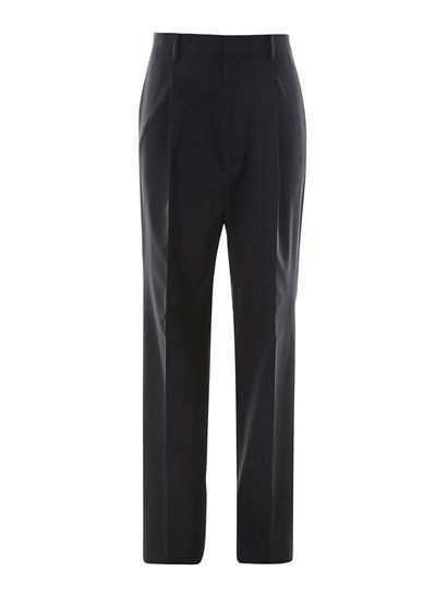 Dsquared2 - Worsted wool trousers in black