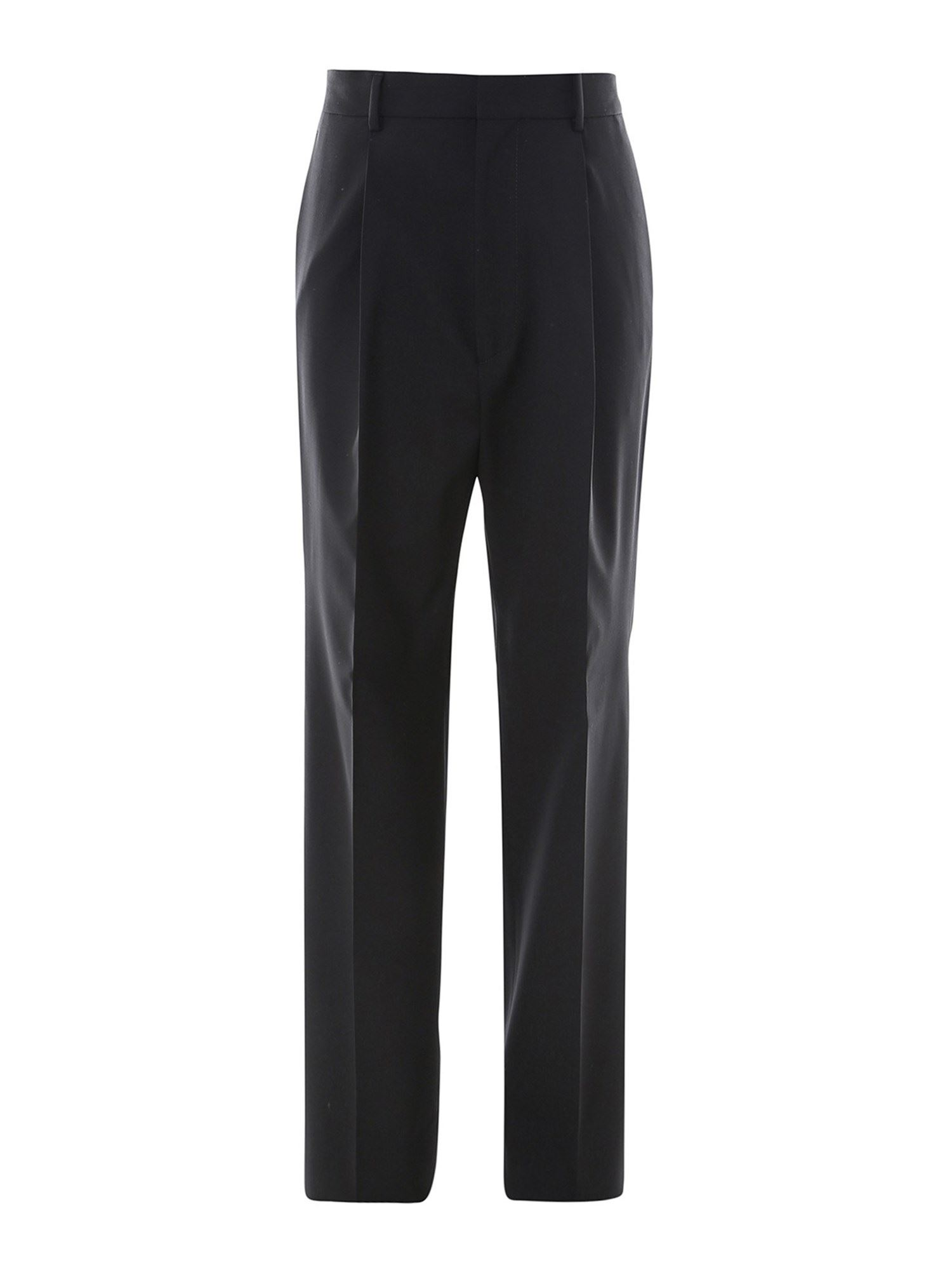 Dsquared2 Wools WORSTED WOOL TROUSERS IN BLACK