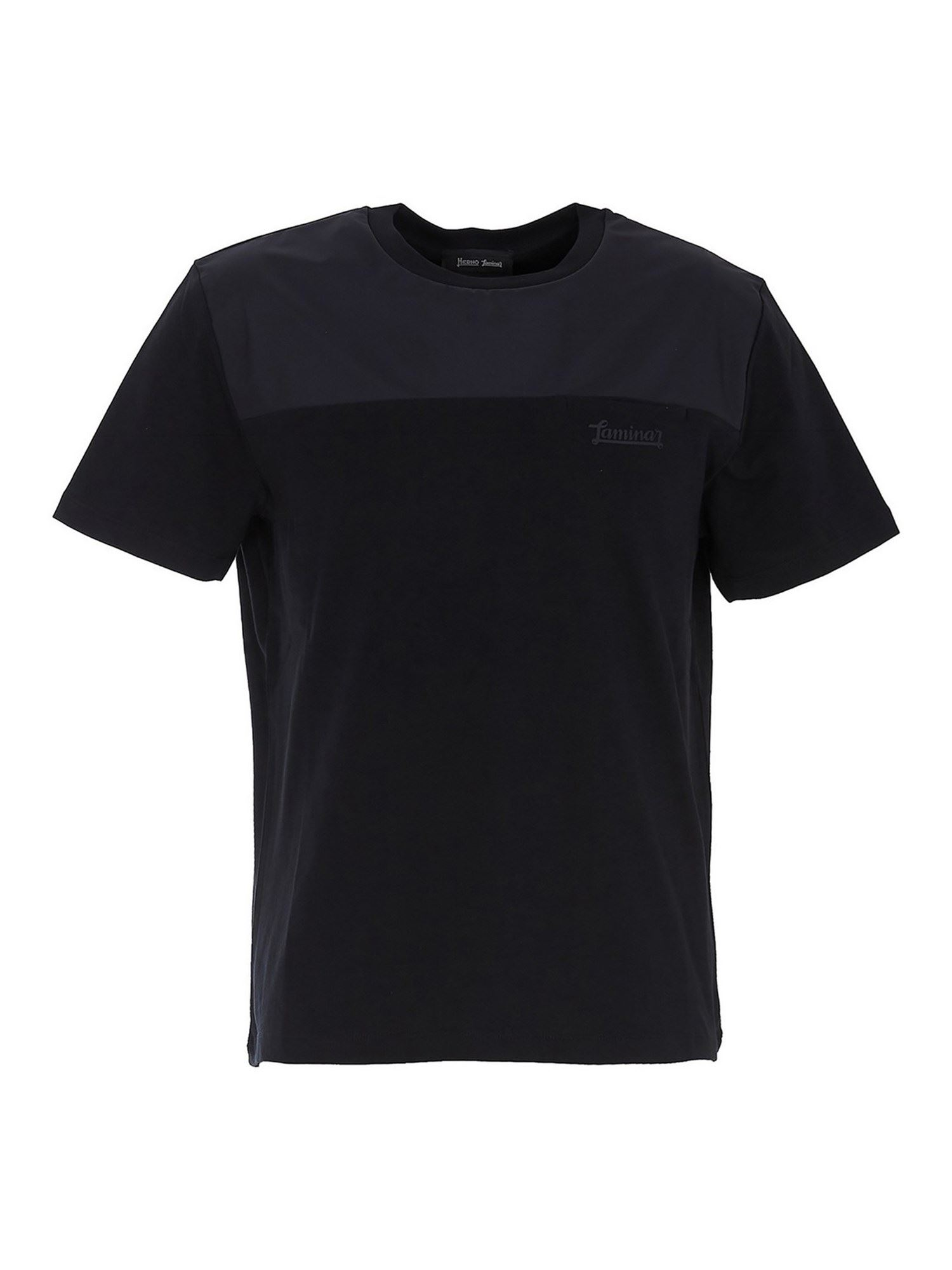 Herno COTTON T-SHIRT IN BLUE