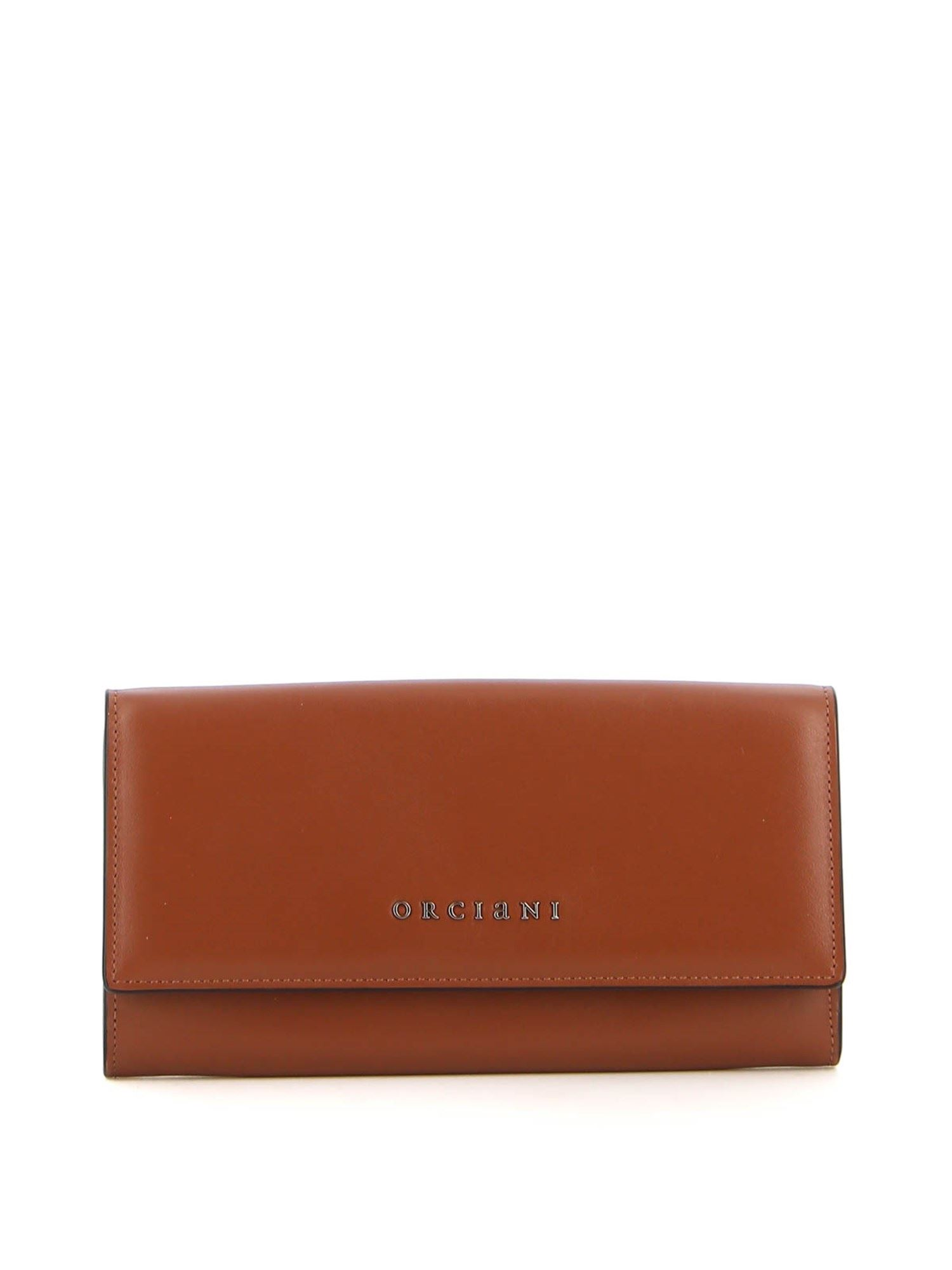 Orciani Wallets SOFT LEATHER WALLET IN BROWN