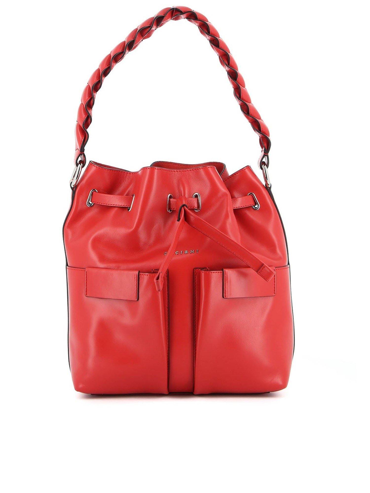 Orciani Leathers TESSA LIBERTY MEDIUM BAG IN RED