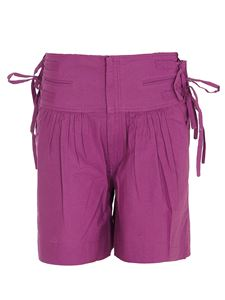 Isabel Marant Étoile - Bow detailed cotton shorts in fuchsia