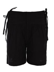 Isabel Marant Étoile - Bow detailed cotton shorts in black