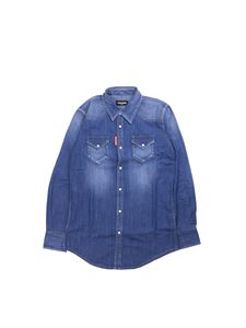 Dsquared2 - Camicia in denim blu