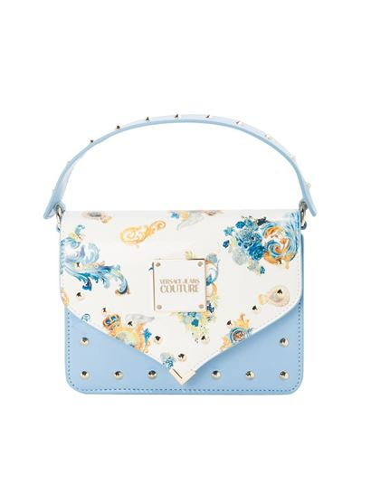 Versace Jeans Couture - Flap crossbody bag in light blue