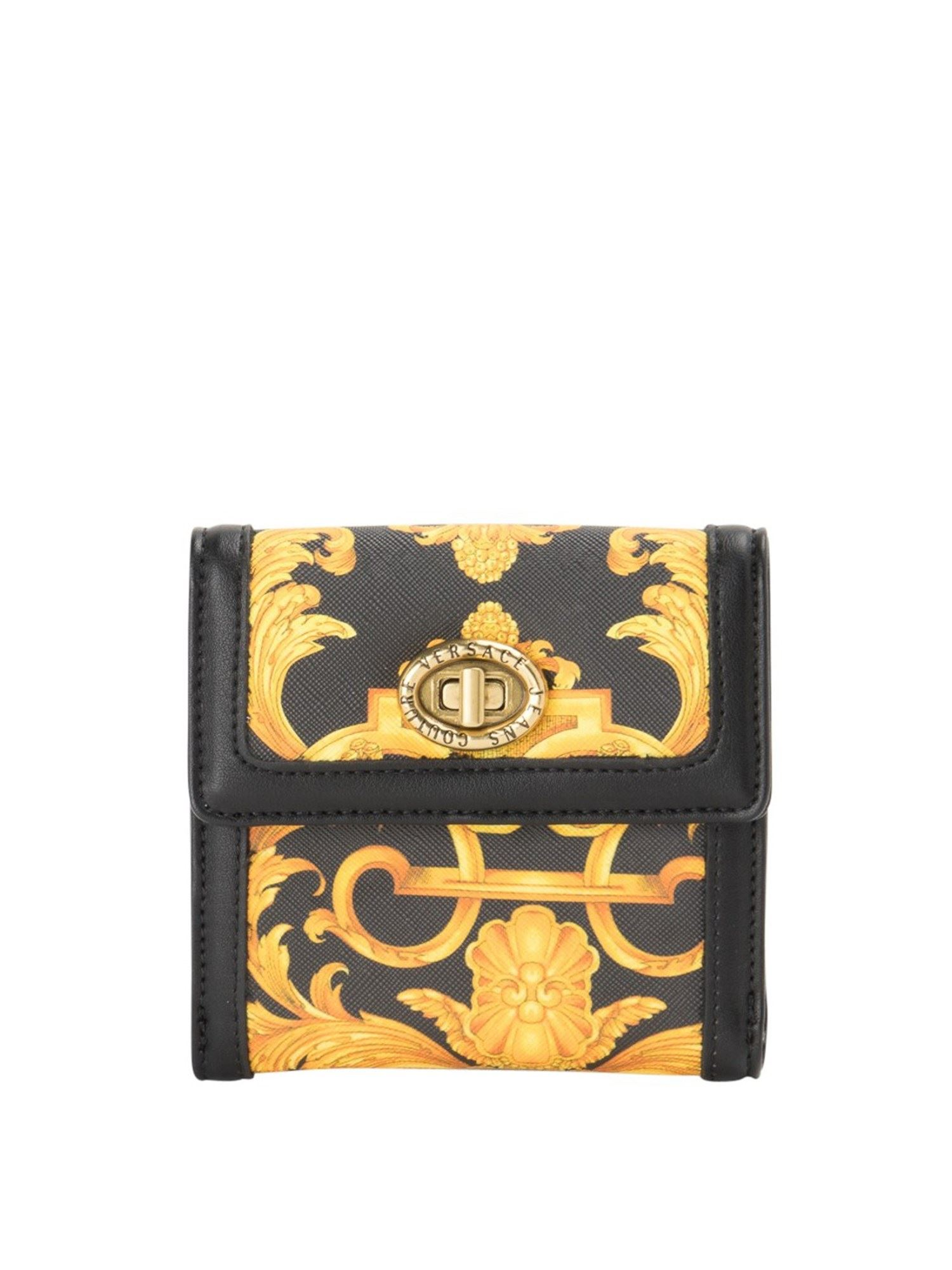 Versace Jeans Couture Wallets BAROQUE PRINT BIFOLD WALLET IN BLACK