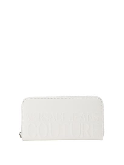 Versace Jeans Couture - Embossed logo wallet in white