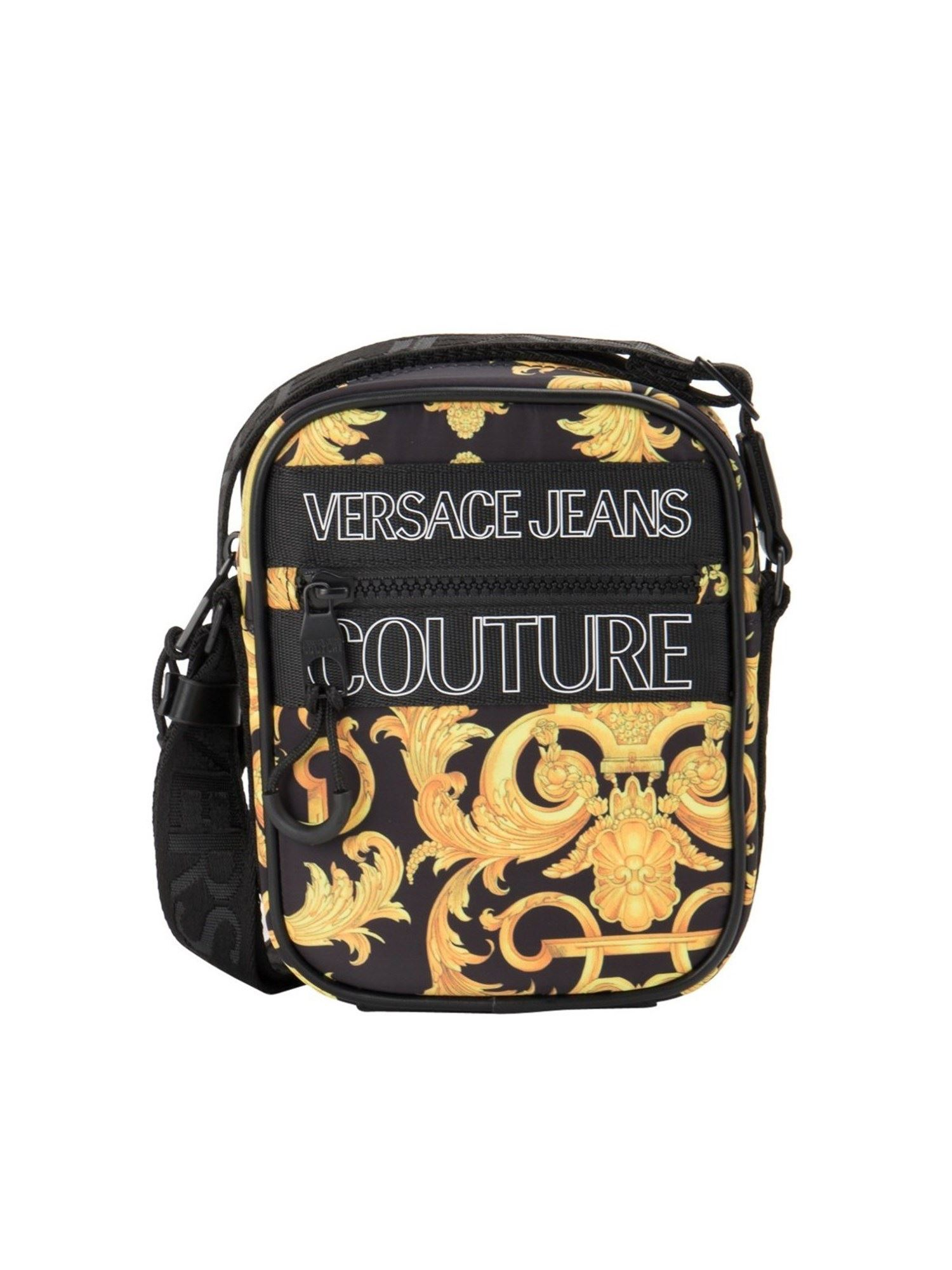 Versace Jeans Couture Crossbody bags BAROQUE PRINT FABRIC BAG IN BLACK