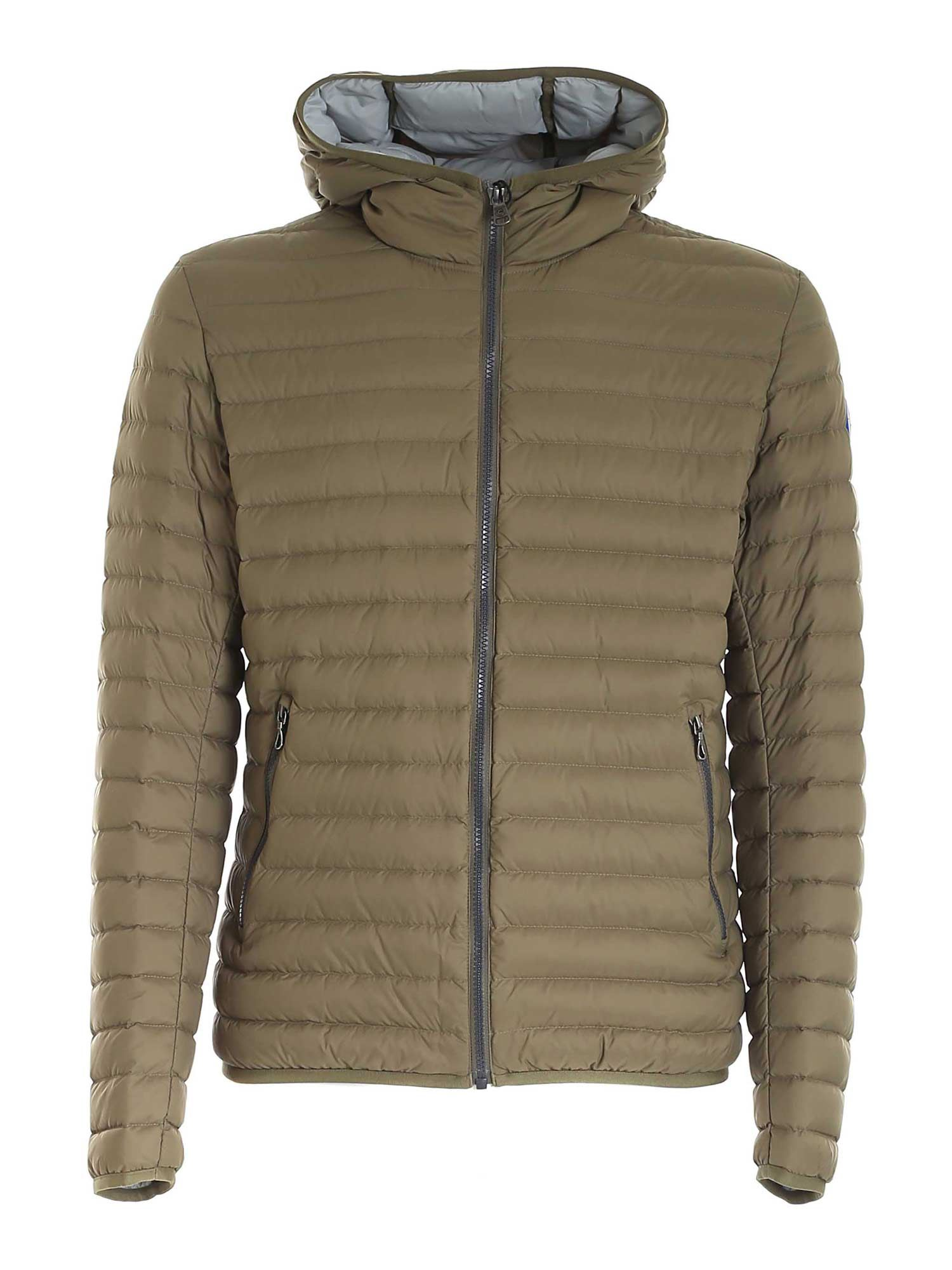Colmar Originals QUILTED HOODED PADDED JACKET IN GREEN