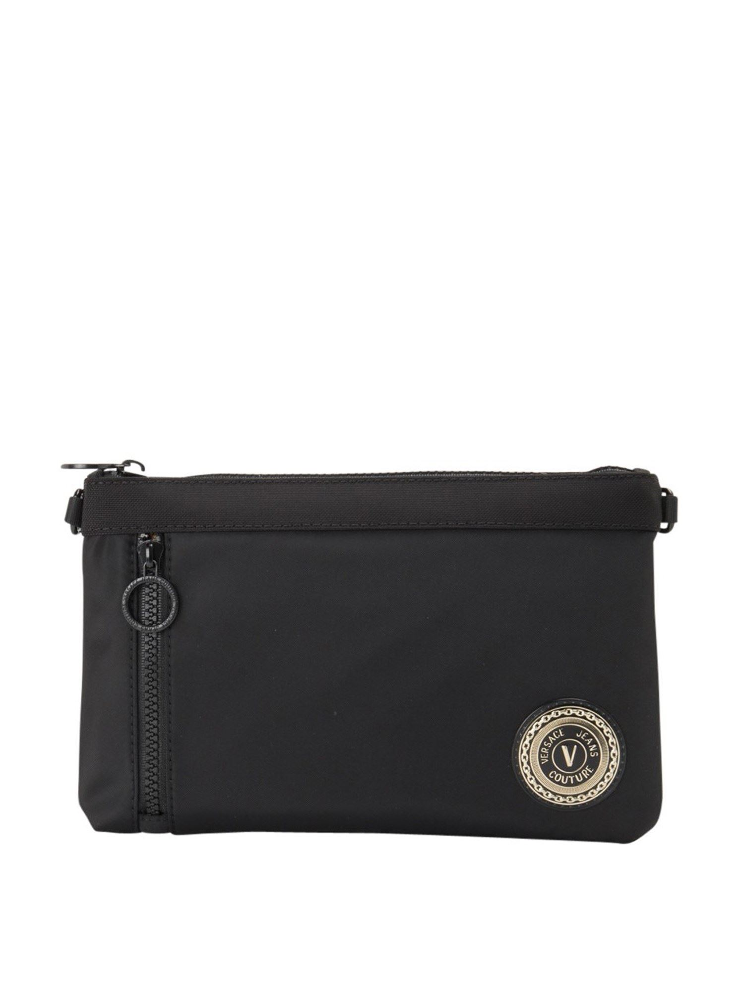 Versace Jeans Couture Clutches ZIP POCKET FABRIC CLUTCH IN BLACK