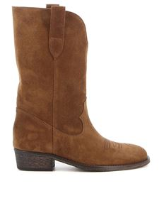 Via Roma 15 - Suede Texan boots in brown