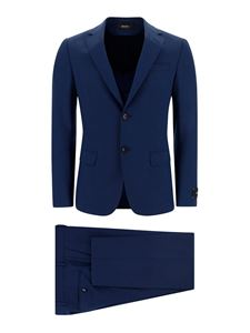 Z Zegna - Stretch wool two-piece suit in blue