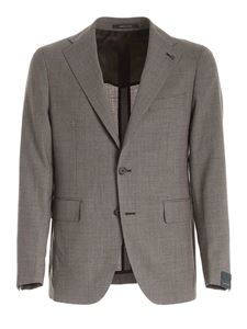 Tagliatore - Single-breasted suit in melange brown