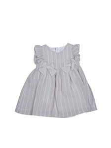 Il Gufo - Bows striped dress in beige