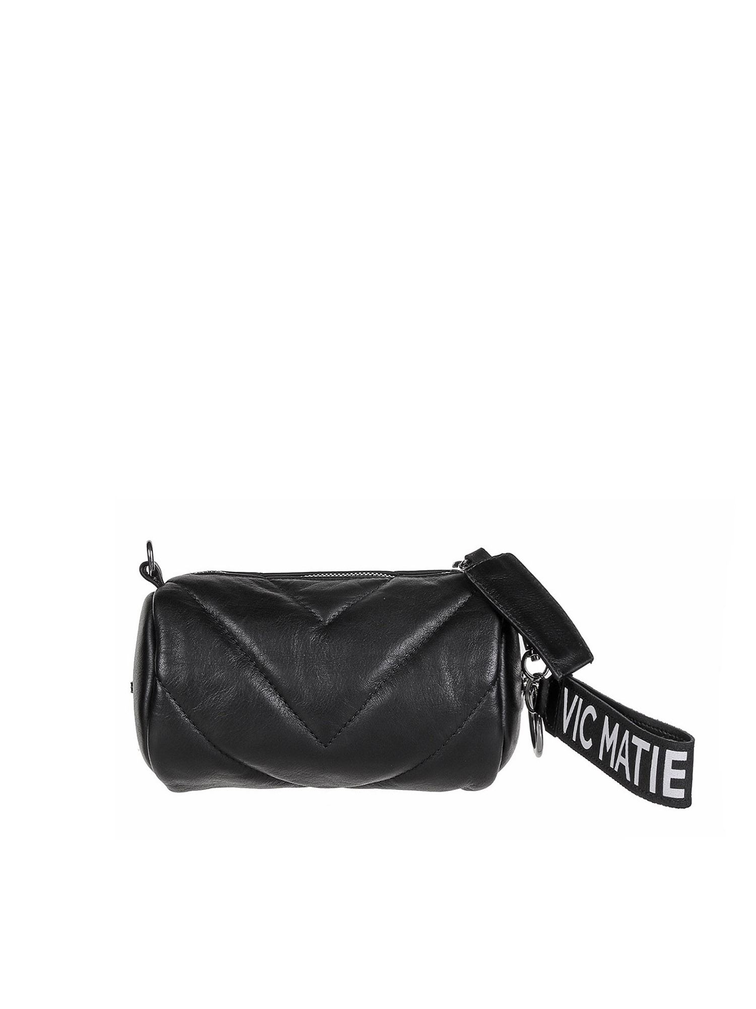 Vic Matie Leathers DAVE MINI BAG IN BLACK