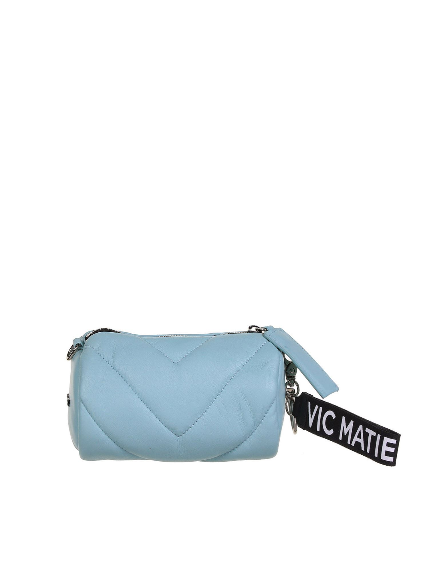 Vic Matie Leathers DAVE MINI BAG IN LIGHT BLUE